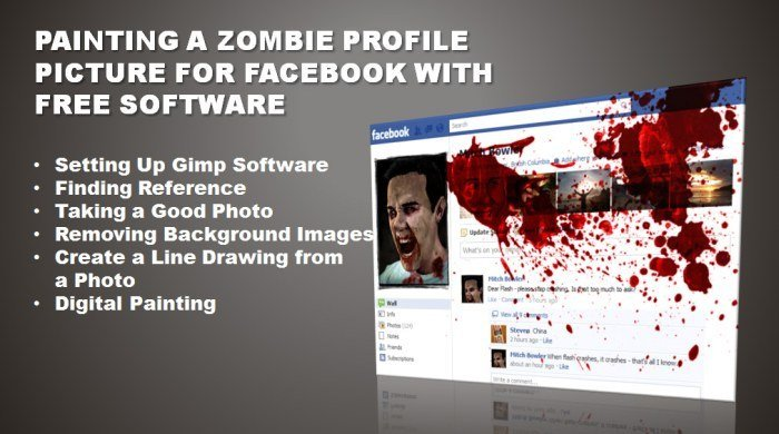Paint a Zombie Facebook Profile with Free Software 15 zombie Facebook profile