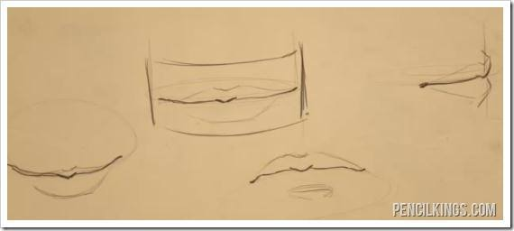 draw a mouth upper and lower view