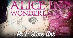 alice-in-wonderland-pencil-kings-line-art