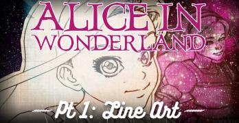 Comic Penciling – Drawing Alice in Wonderland Pt1