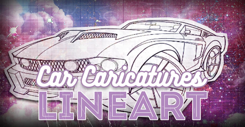 Car Caricature Art Pt1 – Lineart Techniques
