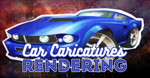 car-caricature-art-rendering