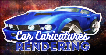 Car Caricature Art Pt3 – Rendering