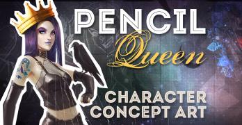 Pencil Queen Character Concept Design