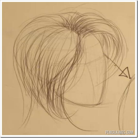 How to Draw Hair | 03 | Hair Flow and Texture 6 advancedhairdrawing
