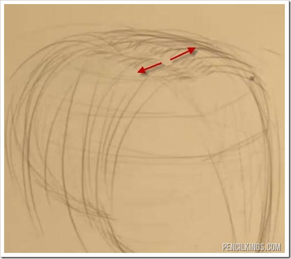 How to Draw Hair | 03 | Hair Flow and Texture 5 drawingthepartinthehair