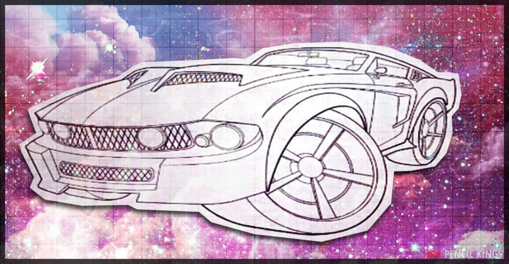 Car Caricature Lineart | 01 | Introduction to Drawing Cars 2 PK AE 2000x1040 Car Caricature Lineart