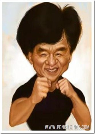 caricaturing tips jackie chan