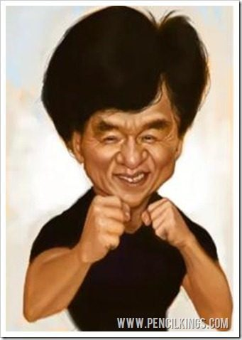drawing caricatures jackie chan sycra yasin