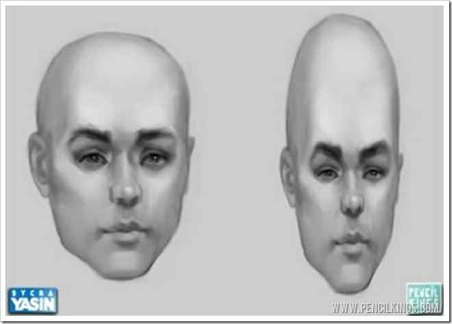 caricature paintings head shapes