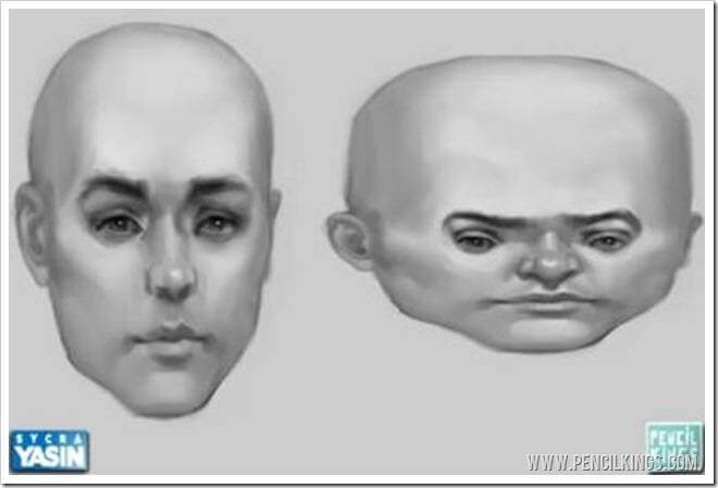 how to make caricatures round head shape