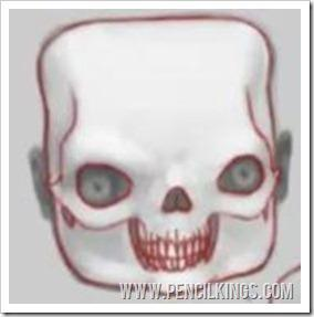 create your own caricature childs skull