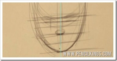 how to draw a face nose position