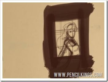 how to sketch alice in wonderland composition thumbnail