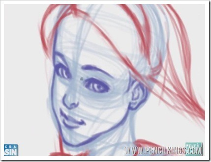 drawing facial features detailed sketching