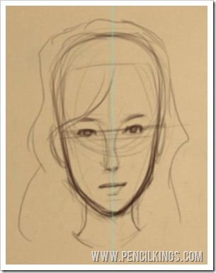 how to draw anime children adult face