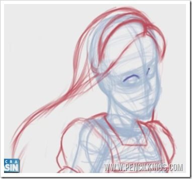 how to draw alice in wonderland face rough sketch