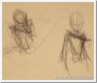 how to draw people rough sketches