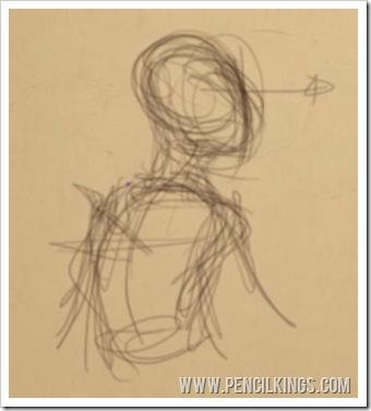 how to draw a kid rough pose sketch