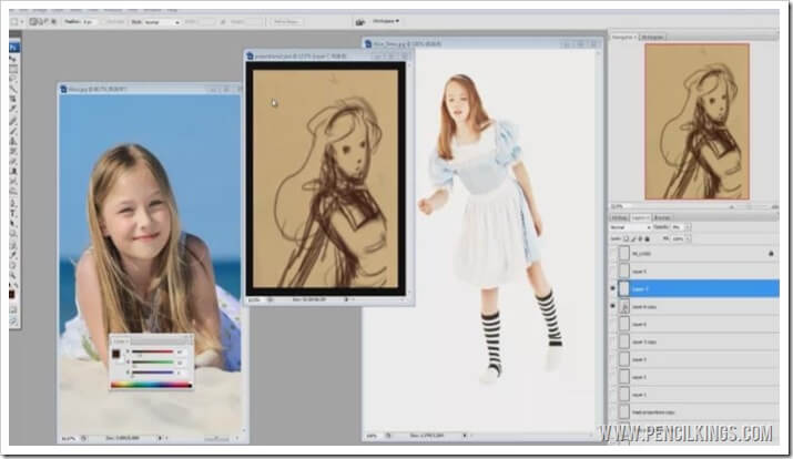 how to draw alice in wonderland characters reference
