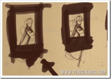 how to draw alice in wonderland step by step framing composition