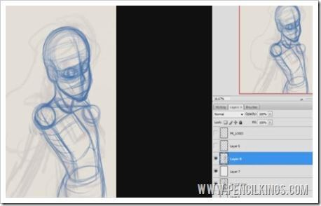 how to draw anime photoshop layers