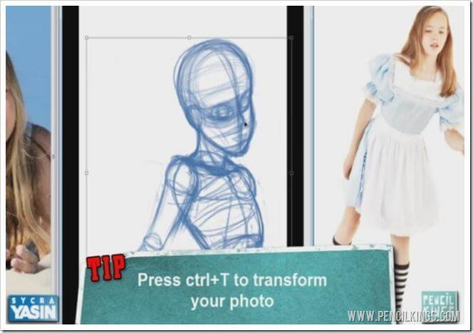 how to draw clothing photoshop transform