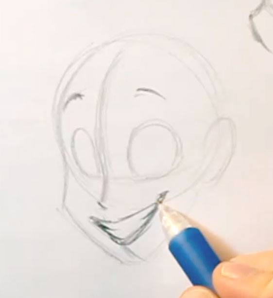how to draw a smile sketching