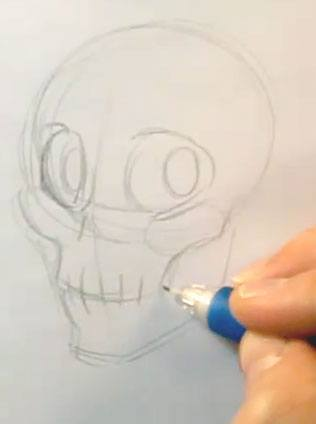 drawing face expressions skull sketch