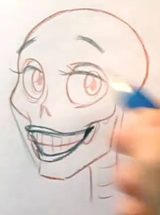 draw a smiling face eyes and teeth