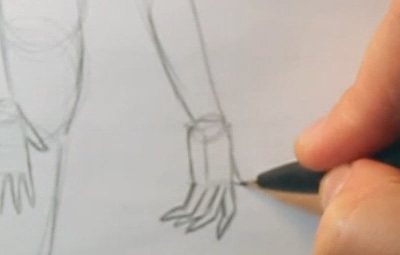draw realistic hands hand sketch