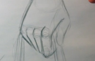 drawing hands knuckles