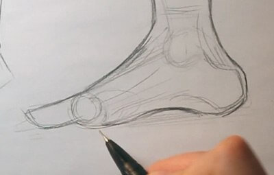 how to draw a foot feet anatomy