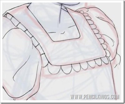 coloring lineart drawing clothing