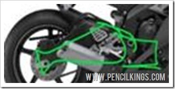 motorbike drawing swingarm