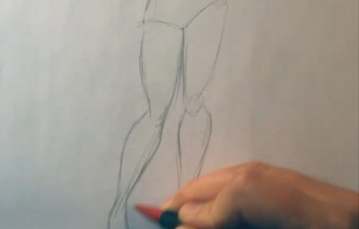 how to draw pin up art legs