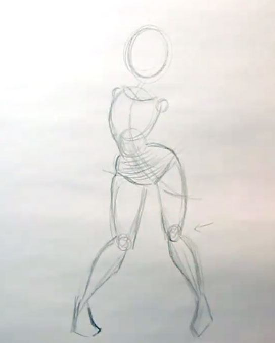 how to draw cartoon girls posing the legs