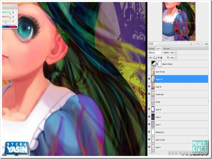 how to paint hair in photoshop cleaning up layers