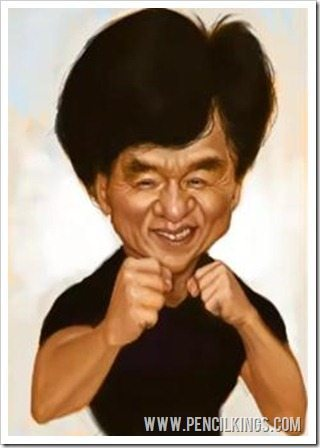 caricature art jackie chan