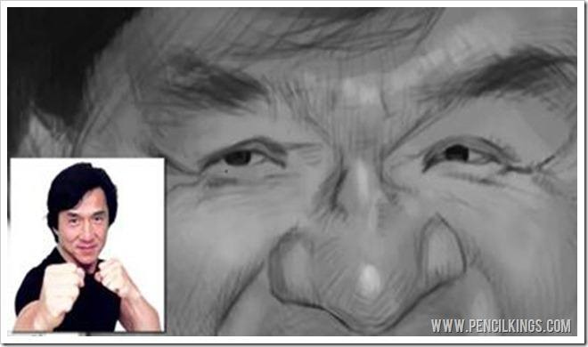 caricature art nose highlights