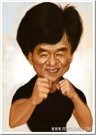 How to make a caricature in Photoshop jackie chan