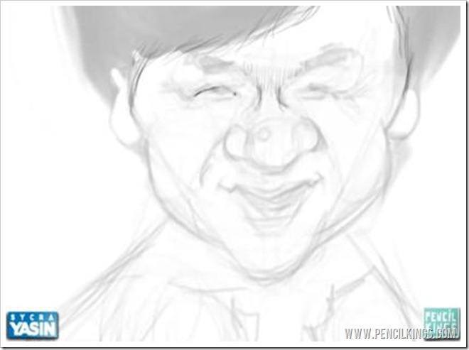 drawing a caricature sketching