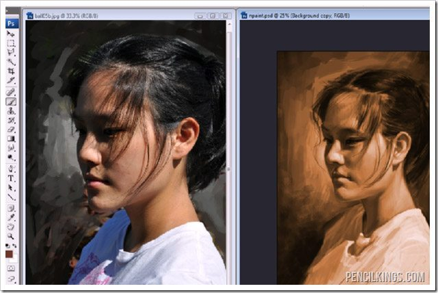 painting portraits in photoshop tonal values