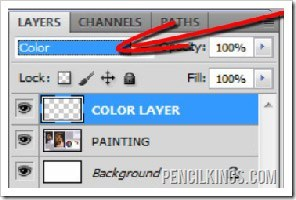 portrait painting in photoshop color layers
