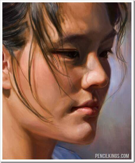 portrait painting photoshop tutorial detailed color values