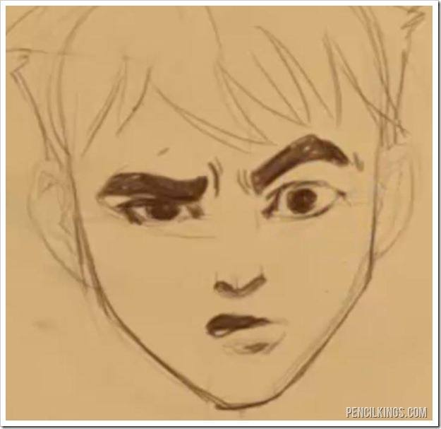 draw a confused face raised eyebrow