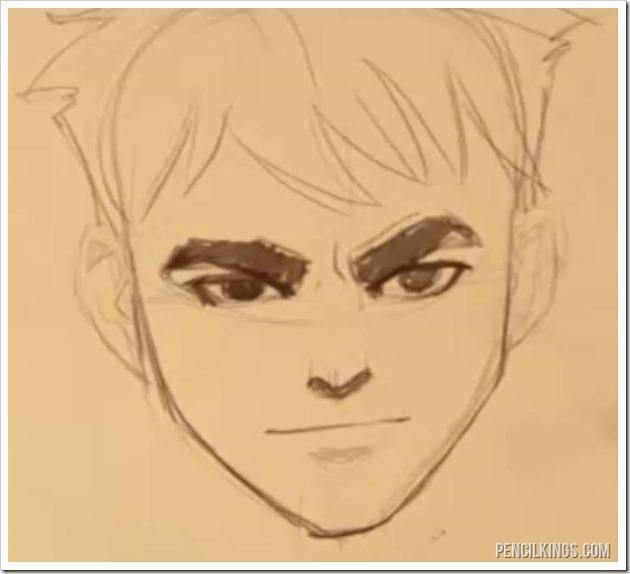 drawing an angry face eyebrows