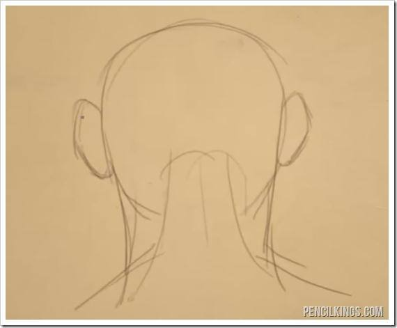 how to draw an ear from the back back of head drawing
