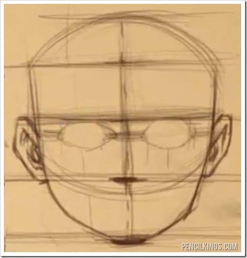 how to draw faces eye sockets