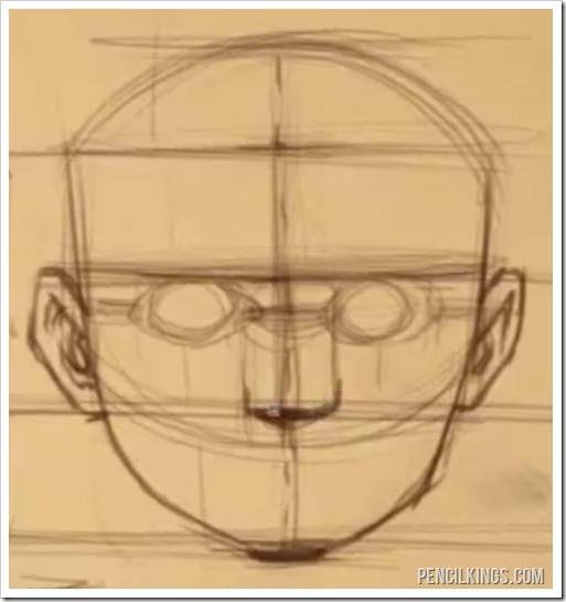 draw a realistic face nose proportions